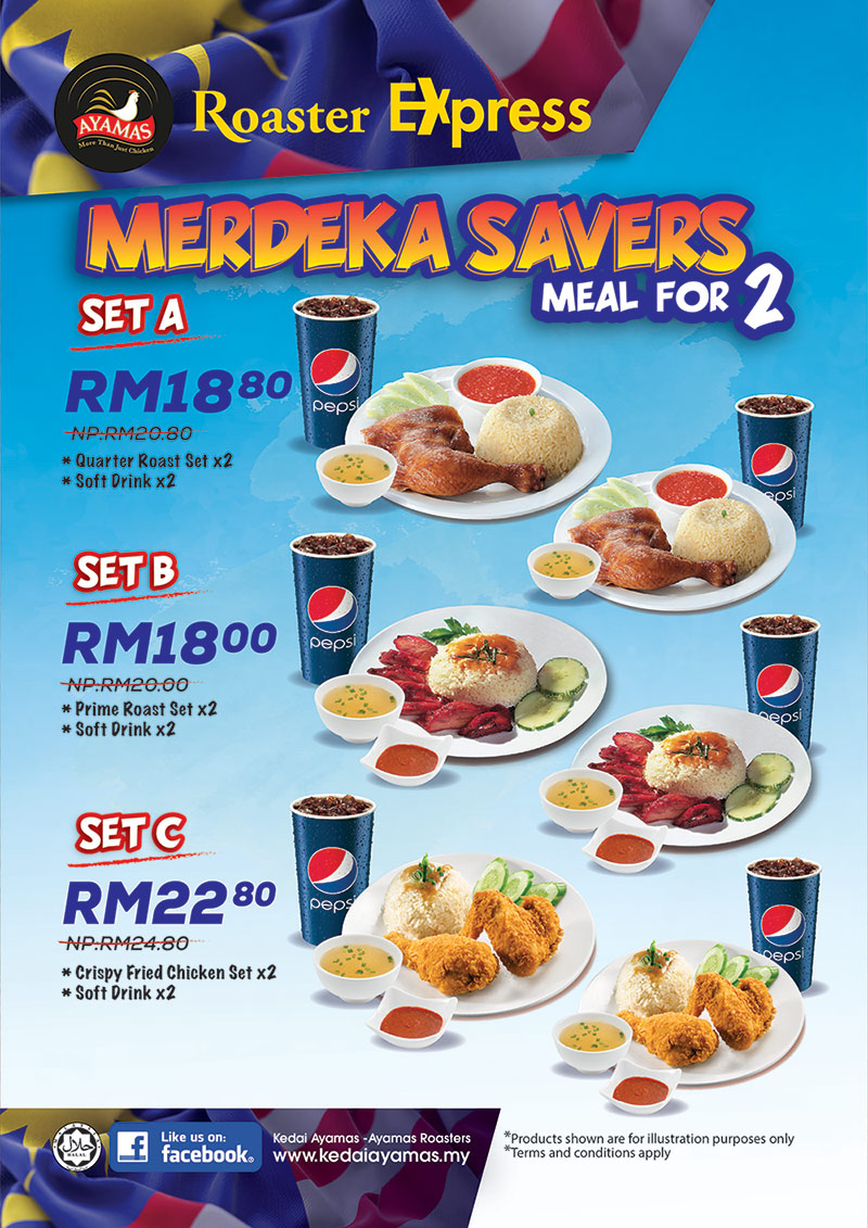 Merdeka Savers Meal for 2